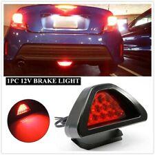 Universal 3rd Brake Light F1 Style 12 LED Strobe Rear Bumper Tail/Stop Red Light