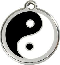 Ying Yang Enamel/Solid Stainless Steel Engraved ID Dog/Cat Tag