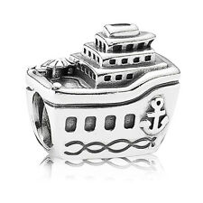 PANDORA Charm Sterling Silver ALE S925 ALL ABOARD CRUISE SHIP  791043