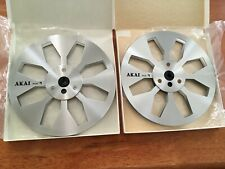 2 AKAI R-77M Metal reels for audiofile or colector