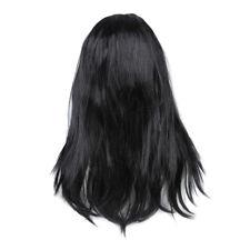 Parrucca lunga liscia nera da donna Costume cosplay feste G3J5