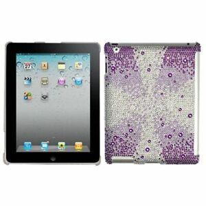 Purple Starburst Diamond Serise SmartSlim Back Case Cover For New iPad 4 3 2