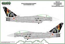 Model Maker Decals 1/72 Spanish Eurofighter EF-2000A Typhoon NATO Tiger Meet 201