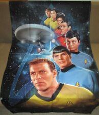 New 36x58 Star Trek Kirk Spock McCoy Crew Fleece Throw Gift Blanket Enterprise