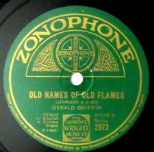 """Gerald Griffin - Old Names Of Old Flames 10"""" 78rpm UK 1927 Zonophone 2972"""