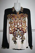 Fiesta blusa Silk chifón blusas ASOS señora camisa talla xs s 36 38 nuevo