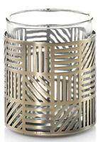 Yankee Candle Crosshatch Brass Design Votive Holder NEW