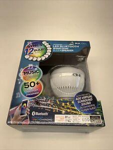Blue Sky Advanced Connect LED Bluetooth Smart Sync Bulb + Speaker-50+ Colors-New