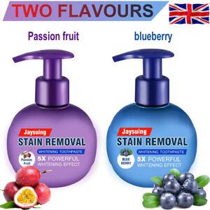 Natural Intensive Stain Remover Whitening Toothpaste Fight Bleeding Fresh UK