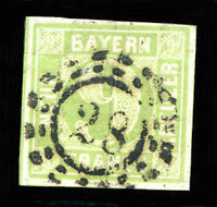 "GERMANY BAVARIA Mi # 5 a Kind II ""28"" CACHET Used VF"
