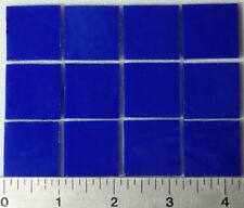 """0147.30 Deep Cobalt Blue 1"""" x 1"""" 3mm Bullseye Glass 90 Coe Tested Compatible"""