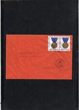 D3563 - ITALIA 1973 - MEDAGLIE D'ORO VALORE MILITARE -COPPIA SU BUSTA