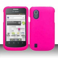 For ZTE Concord V768 Rubberized HARD Protector Case Snap Phone Cover Rose Pink