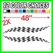 Checkered Stripes Decal Trailer Graphic Car IMCA Model Modified Sprint Flag