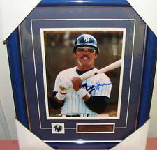 Reggie Jackson New York Yankees Autógrafo 8 X 10 Enmarcado B