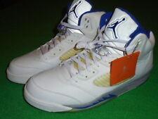 Mens Authentic Nike Jordan Retro 5 Stealth White Royal Blue Size 14 Shoes Nice