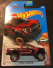 2017 Hot Wheels CUSTOM Super '17 Ford F-150 Raptor w 5 Spoke Redline Real Riders