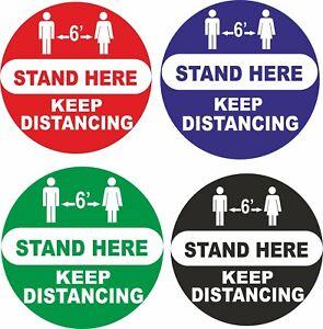 Social Distancing STAND HERE  Sticker 2m Sign Keep Distance Window Sticker Vinyl