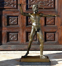 Talla ZEUS Escultura de bronce con Blitz Sobre Base De Mármol Firmado Cesaro
