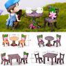 Accessories Miniature Table and Chairs  Mini Ornaments Fairy Garden Landscape