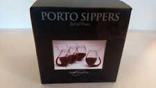 Hand Blown Glass Oenophilia Porto Sipper Set 4pcs Wine Port 17th Century Style