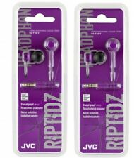 JVC RIPTIDE HA-FX8 In-Ear only Headphones - Violet TWIN PACK