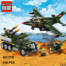 Enlighten 1710 Military Army Plane Gun Bomber Building Block blocks toy Toys