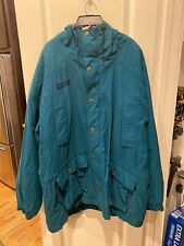 Vintage Blue Green Columbia  ski snowboard jacket fleece liner XL parka coat