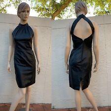 WEST BAY GORGEOUS SEXY BLACK LEATHER OPEN BACK DRESS SZ 8