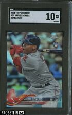 2018 Topps Chrome Refractor Rafael Devers Boston Red Sox RC Rookie BGS 10