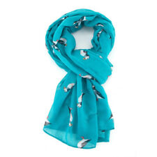 The Olive House® Womens British Puffin Sea Bird Scarf Turquoise Blue
