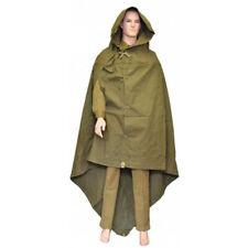military poncho hooded raincoat