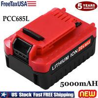 NEW PCC685L 5.0AH For PORTER CABLE 20V MAX PCC680L PCC682L  Lithium Battery