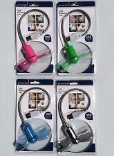 4 - USB Personal Student Fan Stocking Stuffer Gift: Pink/Green/Light Blue/Chrome