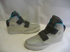 NIKE Mens Athletic Shoes Sz 14 Sneakers Hi Tops Gray Aqua Flystepper 2K3 Leather