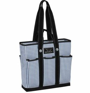 """Rocket Pocket Scout Tote Bag with Pockets - Brooklyn Checkham 15.5 x 14 x 5"""""""
