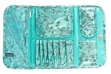 NEW PurseN Metallic Turquoise Make-up BRUSH STAND ORGANIZER CASE
