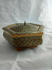 Boite a bijoux Persane (Iran) Khatam Kari hexagonale