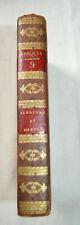 1829 Sandford et Merton par Berquin avec gravures reliure plein cuir BE