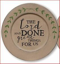 Edged Vine Plates - The Lord Has Done Great Things Plate - 33291 - New!