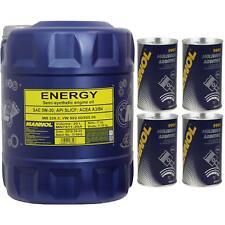 20L MANNOL OLIO MOTORE ENERGIA 5W-30 API SL/CF oiladditiv molibden ADDITIVO PER
