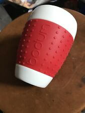 Bodum ~  Double Wall Tumbler Coffee MUG Cup w/ Silicone Sleeve RED