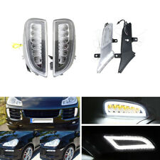 Combo Led Daytime Running Lights W/ Side Marker For Porsche Cayenne 2007-2010