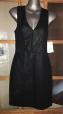 Black Faux Leather Zara Trafuluc Dress Size L Bnwt