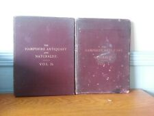 THE HAMPSHIRE ANTIQUARY AND NATURALIST 1892 VOLUME I & II ARCHAEOLOGICAL BOOKS
