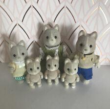 Sylvanian Families~ tailbury Dog Family With 3 Baby's RARE