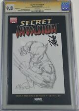 Marvel Secret Invasion #1 Signed by Stan Lee & Sketched by Billy Tan CGC 9.8 SS