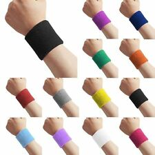 Sports Wrist Sweatbands Unisex Wristband Tennis Squash Badminton Gym Running