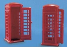 Modelscene 5006 2 x Red Telephone Kiosks Plastic Kit '00' Gauge 1st Post