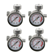 4X MINI AIR REGULATOR SPRAY GUN DIAL COMPRESSOR INLINE PRESSURE METER GAUGE